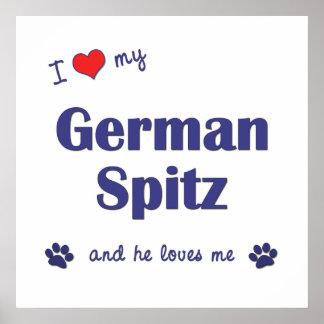 I Love My German Spitz (Male Dog) Poster