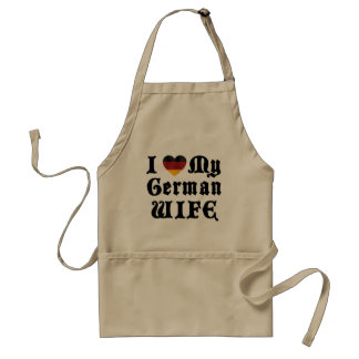 I Love My German Wife Gift Aprons
