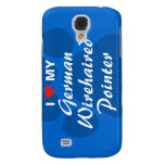 I Love My German Wirehaired Pointer Galaxy S4 Cover