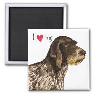 I Love my German Wirehaired Pointer Magnet