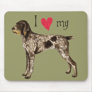 I Love my German Wirehaired Pointer Mouse Pad