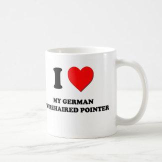 I Love My German Wirehaired Pointer Classic White Coffee Mug