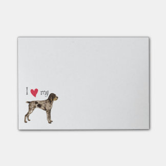 I Love my German Wirehaired Pointer Post-it® Notes