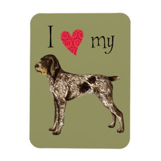 I Love my German Wirehaired Pointer Rectangular Photo Magnet