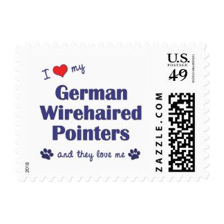 I Love My German Wirehaired Pointers (Multi Dogs) Stamps