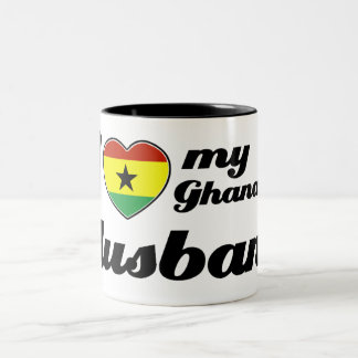 I love my Ghanaian husband Two-Tone Coffee Mug
