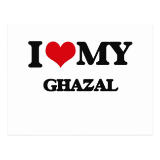 I Love My GHAZAL Postcard
