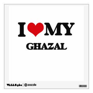 I Love My GHAZAL Room Decal
