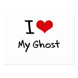 I Love My Ghost Large Business Cards (Pack Of 100)
