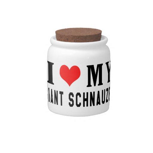 I Love My Giant Schnauzer Candy Jars