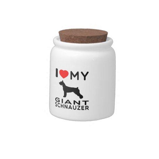 I Love My Giant Schnauzer Candy Jar