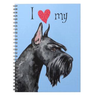 I Love my Giant Schnauzer Notebook