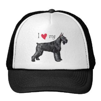 I Love my Giant Schnauzer Trucker Hat