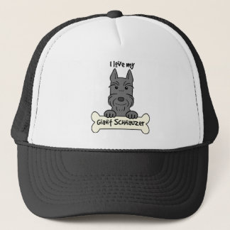 I Love My Giant Schnauzer Trucker Hat