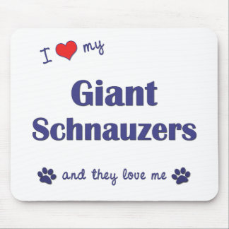 I Love My Giant Schnauzers (Multiple Dogs) Mouse Pad