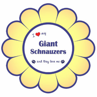I Love My Giant Schnauzers (Multiple Dogs) Photo Sculpture Ornament