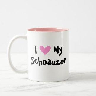 I Love My Giant/Standard/Miniature Schnauzer Two-Tone Coffee Mug