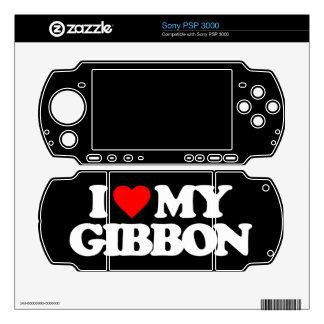 I LOVE MY GIBBON SKIN FOR PSP 3000