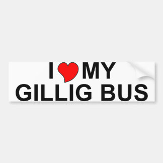 I Love My Gillig Bus Bumper Sticker