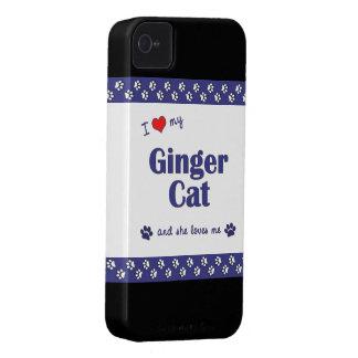 I Love My Ginger Cat (Female Cat) Case-Mate iPhone 4 Case