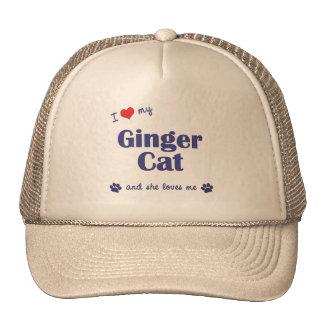I Love My Ginger Cat (Female Cat) Trucker Hat