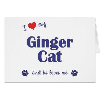 I Love My Ginger Cat (Male Cat) Card