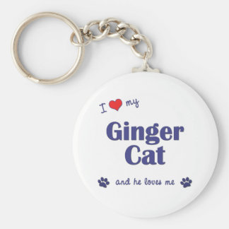 I Love My Ginger Cat (Male Cat) Keychain