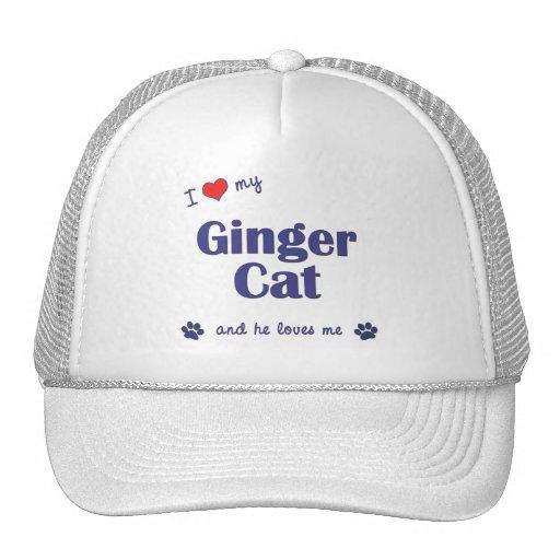 I Love My Ginger Cat (Male Cat) Trucker Hat