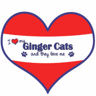 I Love My Ginger Cats (Multiple Cats) Cutout