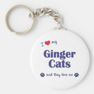 I Love My Ginger Cats (Multiple Cats) Keychain