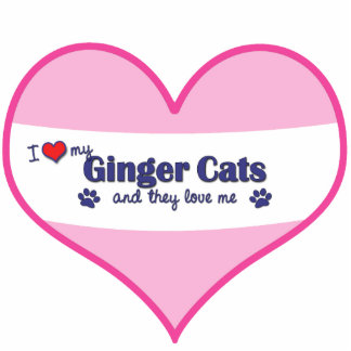 I Love My Ginger Cats (Multiple Cats) Photo Sculpture Ornament