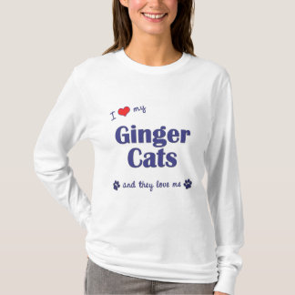 I Love My Ginger Cats (Multiple Cats) T-Shirt