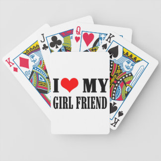 i love my girl friend bicycle playing cards