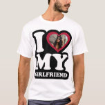 """I Love My Girlfriend - Custom Photo T-Shirt<br><div class=""""desc"""">I Love My Girlfriend - Add You Photo Personalize with your own photo</div>"""