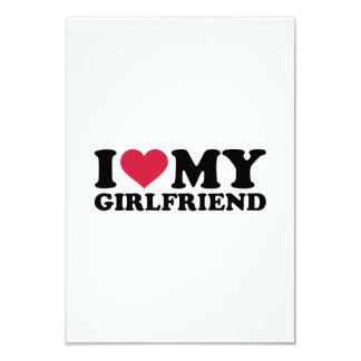 I love my girlfriend 3.5x5 paper invitation card