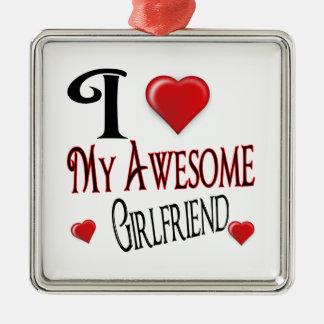 I love My Girlfriend Metal Ornament