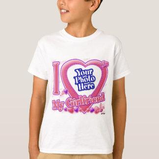 I Love My Girlfriend pink/purple - photo T-Shirt