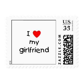 I Love My Girlfriend Postage Stamp