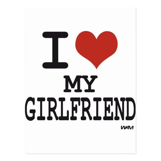 I love my girlfriend postcard