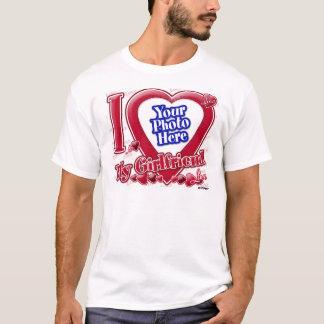 I Love My Girlfriend red heart - photo T-Shirt