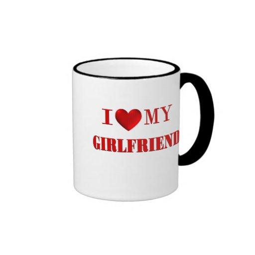I Love My Girlfriend Ringer Coffee Mug