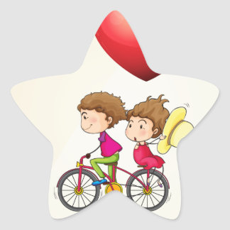 I love my girlfriend star sticker