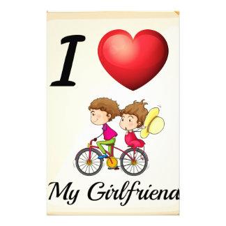 I love my girlfriend stationery