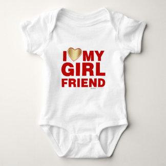 I Love My Girlfriend Valentines Day Heart 14th Feb Baby Bodysuit