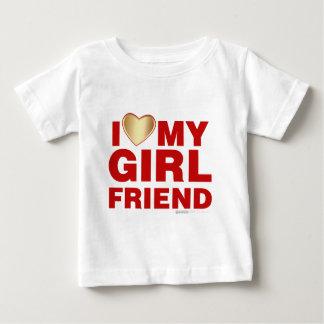 I Love My Girlfriend Valentines Day Heart 14th Feb Baby T-Shirt