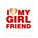 I Love My Girlfriend Valentines Day Heart 14th Feb Post Cards