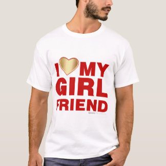 I Love My Girlfriend Valentines Day Heart 14th Feb T-Shirt