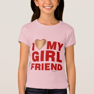I Love My Girlfriend Valentines Day Heart 14th Feb T-Shirt