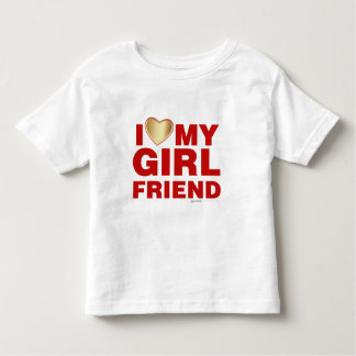 I Love My Girlfriend Valentines Day Heart 14th Feb Toddler T-shirt