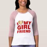 I Love My Girlfriend Valentines Day Heart 14th Feb T Shirt